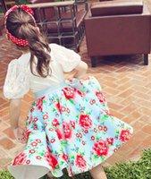 Kids Clothes Girls Flowers Skirts 2015 Summer Princess Girl ...