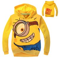 Children Hoodies cartoon Despicable me minion boys girls Lon...