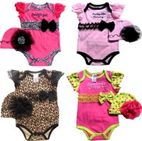 New Baby Climbing Clothes 2015 Summer Leopard Dots Bowknot T...