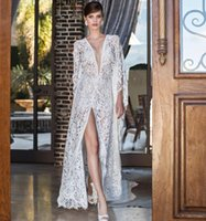 2015 Nurit Hen Spring Wedding Dresses Sexy French Lace Split...