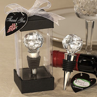 Bottle stoppers circle crystal Wine stopper for wedding supp...