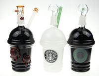 2015 nouveau starbucks verre bong Starbuck tasse d'eau pipe Cheech fumer pipe gréement de la grue de pétrole et ongles verre bubbler narguilé