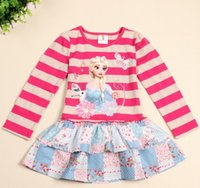 2014 Autumn New Baby Infant Wide Stripe Frozen Snow Queen Ol...