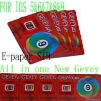 Новые Gevey для ОС IOS 56789 E-Sim бумаги Gevey SIM-карты для разблокировки iPhone 6s 6plus 6 5S 5 4s Идеальный разблокировки WCDMA GSM CDMA 4G 3G RSIM 10