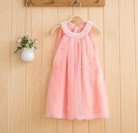 Korean Style Children Girls Dresses Sleeveless Chiffon Dress...