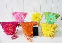 Hot Fashion Cute Wheat Straw Mini Bags With Zipper Crochet K...