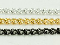 Curb Aluminum Open Link Chain fit Necklace Bracelet 4x6mm