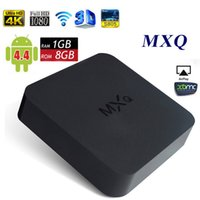 MXQ Android TV Box Quad Core Amlogic S805 1GB 8GB 16,0 Totalmente carregado Smart Media Player Android 4,4 H.265 MX MXN DLNA OTT IPTV Mini PC
