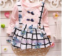 Korean Princess Dresses Baby Girls Fall False 2PCS Butterfly...