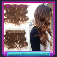 #4 Light Brown Ear to Ear Lace Frontal With Baby Hair Human ...