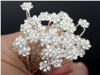 Wedding Bridal hair pins Pearl rhinestone Hair Pins Flower C...