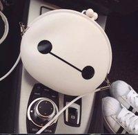Hot Cute Baymax Mini Bags With Lace Cross Body White Cartoon...