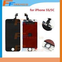 Pour iPhone 5S 5C Affichage à cristaux liquides avec l'écran tactile Numériseur Montage complet Livraison gratuite Blanc noir Écrans de rechange