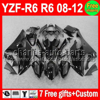 ALL Black 7gifts For YAMAHA YZFR6 08- 12 YZF600 YZF R6 08 09 ...