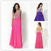 Hot Pink Prom Dresses with Crystal Beading 2015 Sweetheart P...