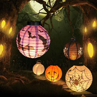 Halloween LED Paper Pumpkin Ghost Hanging Lantern Light Holiday Party Decor