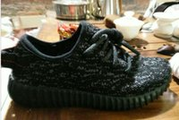 10 color kids yeezy 350 black shoes baby kids shoes size 28-...