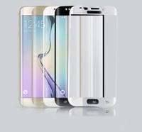 3D изогнутый закаленное стекло Красочные Полный передний цветной LCD 9Н HD премиум-экран протектор для Sumsung Примечание 7 S7 Край Край S6