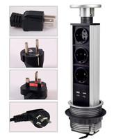 UK EUR UL SAA Universal Plug Pop Up Socket Aluminium Alloy S...