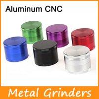 Новый 4 Layered Измельчители Алюминиевые CNC Верхнее качество металла Измельчители 50мм 55мм 63мм Layered металла Зуб Grinder VS острый камень измельчители