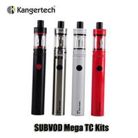 Authentic Kangertech SUBVOD Mega TC Kits 2300mAh Batterie 4,0 ml Kanger DEBARDEUR Mini Topfill atomiseur Gift Box