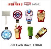 2015Iron Man3 рука энергетического кольца серии 128GB USB 2.0 Flash Drive диск Memory Stick Pen ThumbCar USB disk01