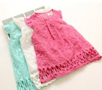 Girls Dresses 2015 Summer Kids Clothes Girl Fly Sleeve Hollo...