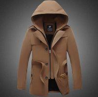 2015 mens autumn winter wool coat mens trench coats slim fit...