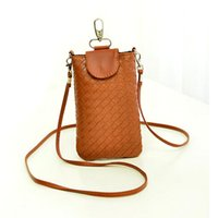 Factory Price Luxury Designer Woven Leather Crossbody Case C...
