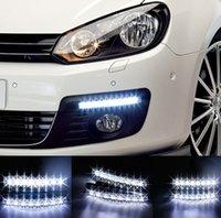 10PCS 8 LED Daytime Running Light Universal Car Light Super ...