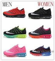 Wholesale- Free Shipping 2016 Running Shoes men women Maxes A...