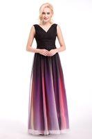 Colorful Ellie Saab Evening Dresses Chiffon Sleeveless Backl...