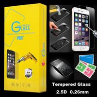 Pour iphone 7 6 Plus S6 Protecteur d'écran 2.5D 9H haut de gamme en verre trempé Film pour Samsung Galaxy Note 4 5 S6 7Plus