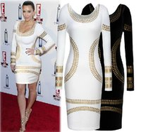 2015 Scoop Neck Long Sleeve Celebrity Dresses Women' s P...