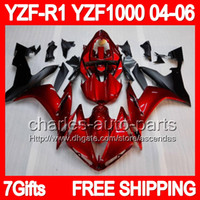 7gifts Stock red Body For YAMAHA YZF- R1 04- 06 YZF R1 R 1 Dar...