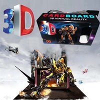 Vendita calda DIY 3D Mandati Occhiali Google Cartone 4-6quot; Cellulare Realtà Virtuale Sinistra Destra Format Robot Nero 3D Glasses V861