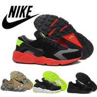 2015 Nike Air Huarache Triple Mens Running Shoes Black White...