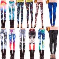 Bulk Autumn Fashion Women' s Ladies Galaxy Leggings Elec...