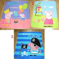 Pink pig Coral Fleece Blanket 100% Polyester kids Sleeping Q...