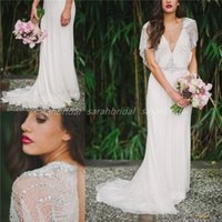 Jenny Packham Tuscan Sheath Wedding Dresses For Bohemian Boh...