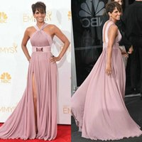2015 New Halle Berry Red Carpet Celebrity Dresses Sexy Halte...