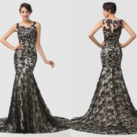 Grace Karin Luxury Sleeveless Sheath Lace Evening Dresses Co...