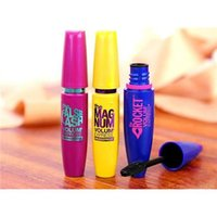 Fibre Lashes Mascara Noir Cils Mascara 3 couleurs Maquillage des yeux Lash Mascara Mesdames Cils Mascara Long Lasting Vente Nouvelles