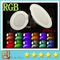 RGB Super 5W 10W RGB LED Ceiling Panel Light AC85- 265V 24Col...