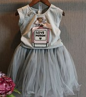 Girls Clothes 2015 Summer Kids Sets Children Bow Love Letter...