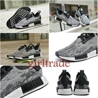 Drop Shipping Free Cheap Famous NMD Runner Primeknit Black W...