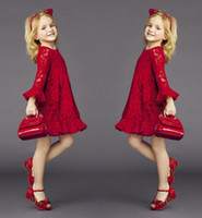 Hot Europe Lace Hollow Out Children Girls Dresses 2015 Sprin...