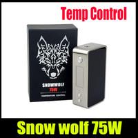 Snowwolf 75W Mini Boîte Cigarette Mod E pour 18650 batterie Wolf Wolf 75w Authentique Sigelei TC Contrôle de la Température