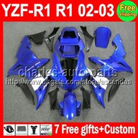 7gifts+ Kit For YAMAHA YZFR1 02- 03 YZF R1 Factory blue YZF100...
