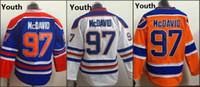 Youth Kids Edmonton #97 Connor Mcdavid White Orange Blue 201...